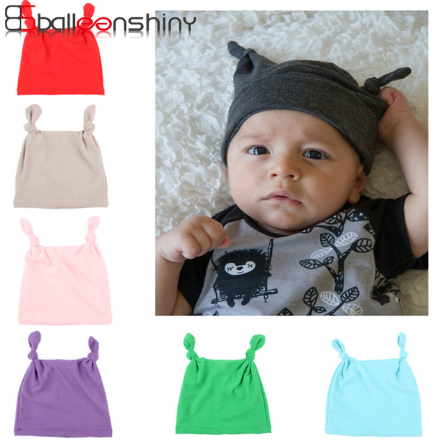 7fc9f363899 BalleenShiny Cute Knot Baby Hat Fashion Solid Color Newborn Infant Beanie Hat  Child Kids Indian Cap