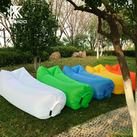 Camping Lazy Bag Inflatable Air Sofa Double Pocket Laybag Sleeping Bag Adult Beds Air Lounge Fast