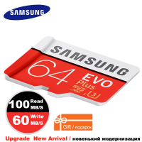 SAMSUNG Micro SD Memory Card 64gb EVO Plus Class10 Waterproof TF Flash Memoria Sim Card Trans