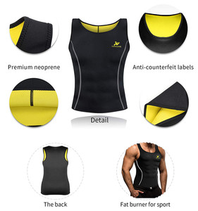 Image 5 - NINGMI Sports Shirt Mens Slimming Vest Fitness Tights Weight Loss Neoprene Sauna Waist Trainer Body Shapers Breathable Tank Top