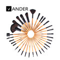 Vander Profesional 32 Unids Marrón Ceja Powder Foundation Maquillaje Cosmético Blush Brush Brushes Kit Multifunción Set w/Bolsa