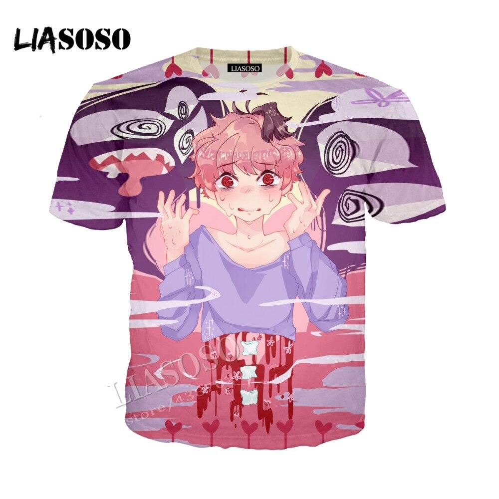 LIASOSO latest 3D printing comfortable polyester Harajuku comic hoodie zipper hooded grimace graffiti men women sportswear CX276