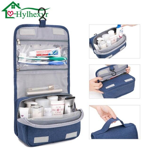 fashion Travel Nylon cosmetics bags water-proof beauty Women makeup bags  bathroom organizer of portable 6feba9240c
