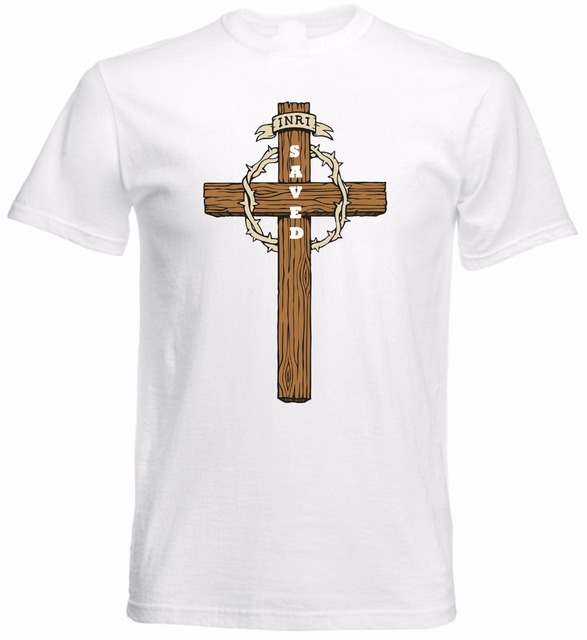8cf6d88ea 2018 Fashion Men T-Shirt Casual Short Sleeve For Men Clothing Jesus Christ  Cross Saved Christian Faith Religious Slogan Men Tees