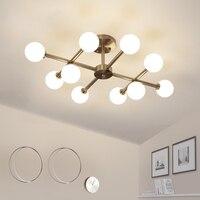 Современные светодиодный Потолочные светильники для гостиной спальня Gold g9 светодиодный потолочный светильник для внутреннего освещения с...