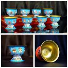 1pcs Tibet Tibetan Buddhist Offering Alloy Buddha Charity Cup Water Bowl Divine Focus Ritual Water Supply KYY8563(China)