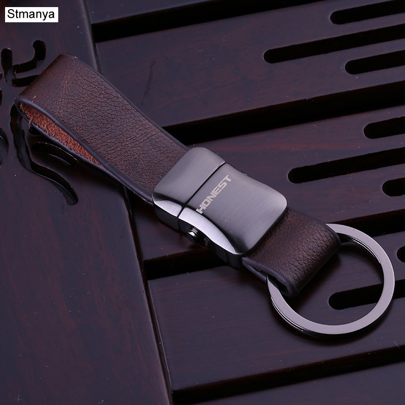 Stmanya High Quality Top Metal Key Chain Men Car Key Chain Business Key Ring Leather Bag Charm Key Holder Gift Jewelry 17390