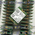 Intel 3165 3165NGW 3165AC двухдиапазонный беспроводной AC + Bluetooth4.2 мини NGFF wifi-картой 802.11AC 4.2 433 Мбит NGFF беспроводная карта 3160