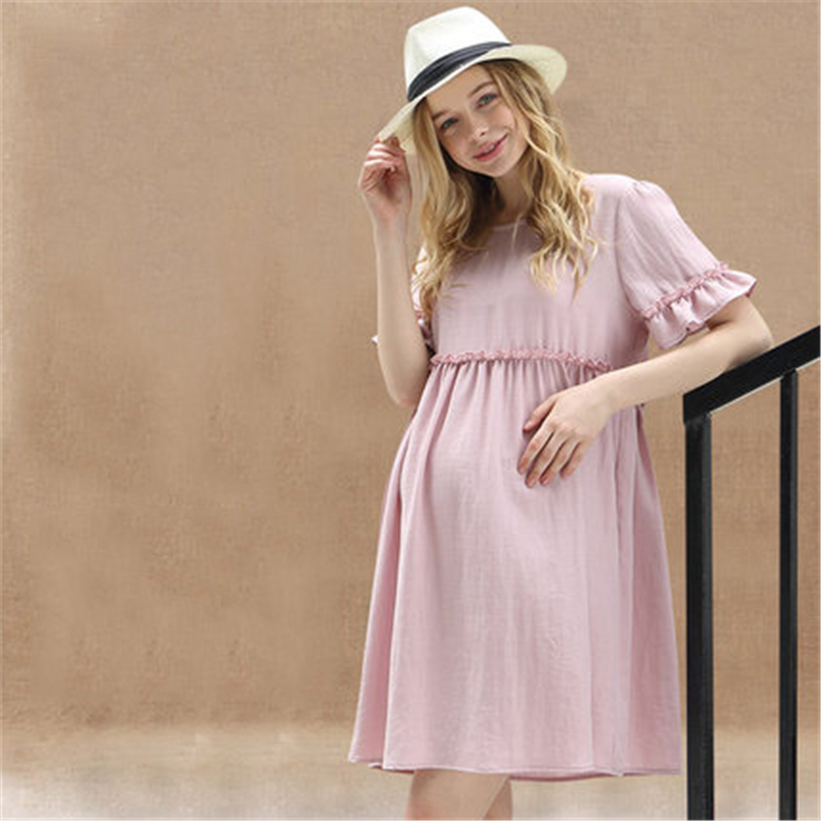 Compare prices on pink maternity clothes online shoppingbuy low women dresses summer maternity dress for pregnant women clothes elegant loose casual sweet dresses vestidos pink ombrellifo Gallery