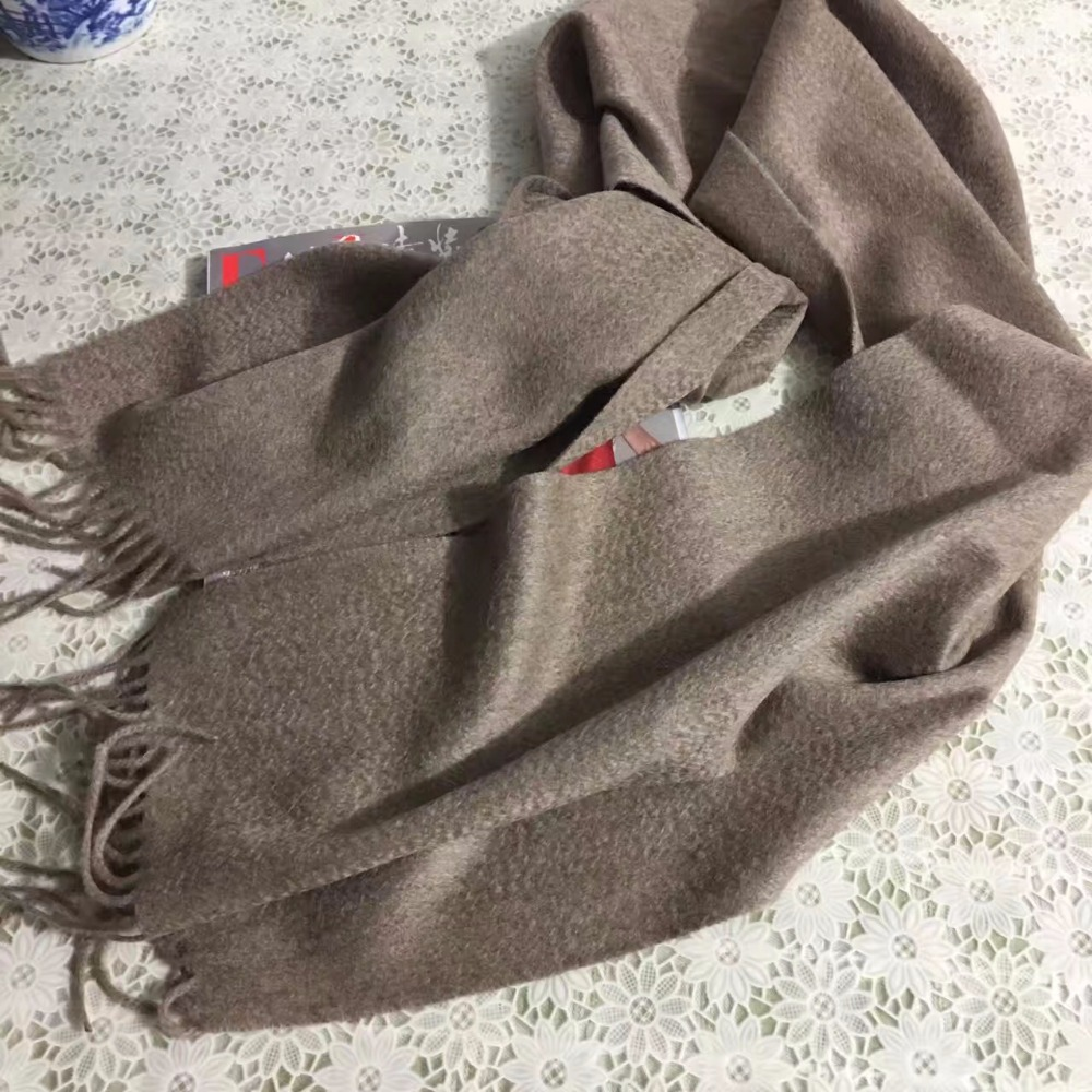 100%Cashmere Thick Light Brown Scarf Women Men Spring Winter Autumn Natural Fabric Extra Soft&Warm High Quality Free Shipping