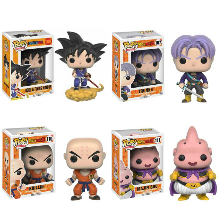 2019 Funko Pop DBZ Anime Dragonball Z Vegeta Goku God Doll Super Saiyan Collectible Toys For Children