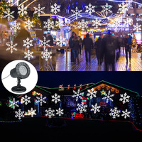 180 Degree Rotated LED Snowflake Laser Projector Light Lawn Lamps Light Waterproof Snow Lasers Christmas Decoration