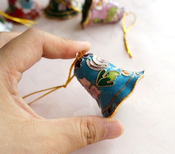 Этнические поделки перегородчатая филигрань DIY Рождественская елка украшения аксессуары Китайская традиционная ремесло висячие орнамент 1 шт