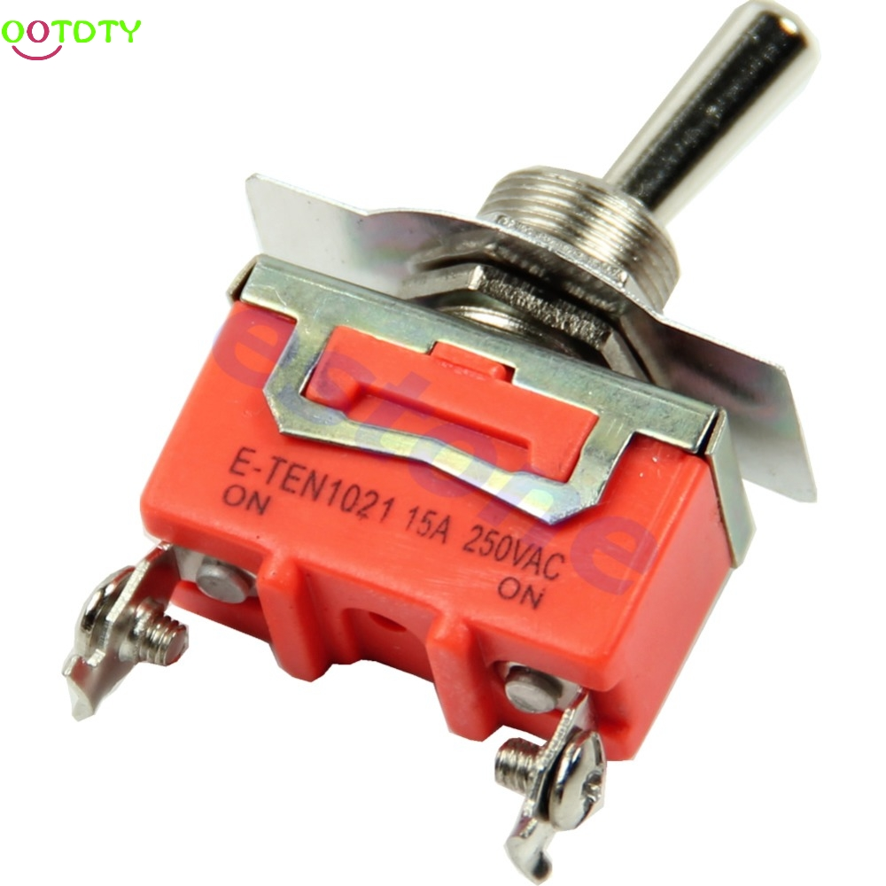 High Quality New 1pc 15A 250V SPST 2 Terminal ON OFF Toggle Switch  828 Promotion g126y 2pcs red led light 25 31mm spst 4pin on off boat rocker switch 16a 250v 20a 125v car dashboard home high quality cheaper
