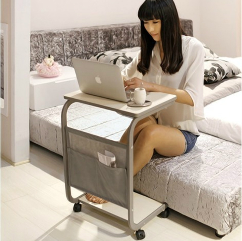 Lazy Bedside Computer Desk Simple Household Floor-standing Study Writing Table Movable Multifunction Flexible Laptop Bracket multifunctional household computer computer desk standing mobile lazy table can freely lift table