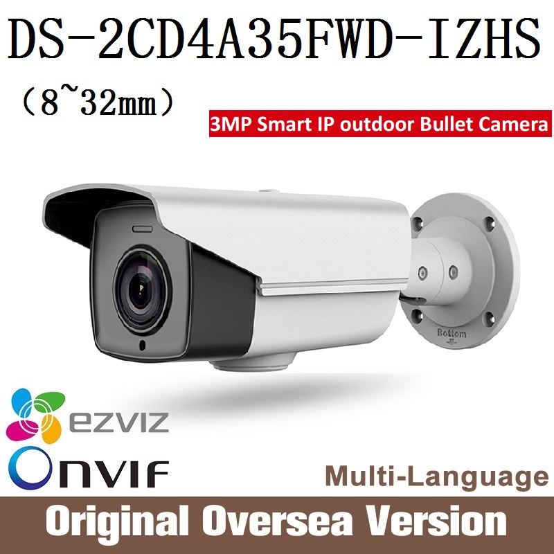HIKVISION Ip Camera DS-2CD4A35FWD-IZHS 8-32mm smart Cctv Bullet 1080p Poe Ip67 da hua English H265 WDR Onvif RJ45 darkfight