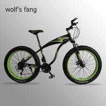 Wolf fang fahrrad mountainbike Fett Bike 21 geschwindigkeit rennräder Mann Aluminium Legierung Vorne und Hinten Mechanische Scheiben bremse