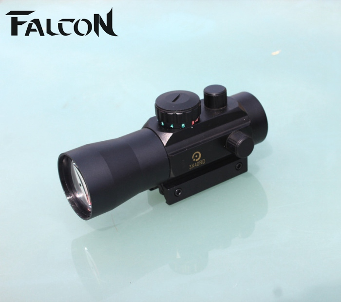 Airsoft Guns Riflescope 3X Magnification Tactical 3X40 Holographic Red Green Dot Sight Scope Fit Rail Mount 11&20mm 3 9x32aol hunting scope tactical red green mil dot airsoft air guns riflescope sniper holographic sight optics luneta para fuzil