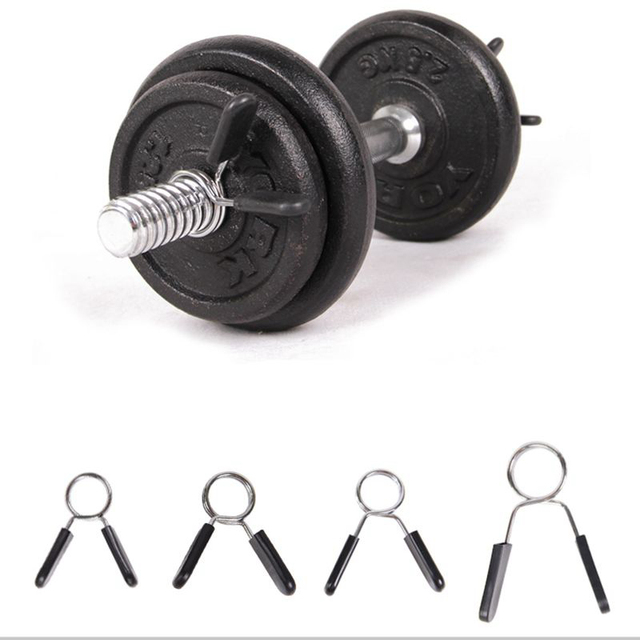 Barbell Clamp Spring Neck Clips Gym Weight Lockable Dumbbell