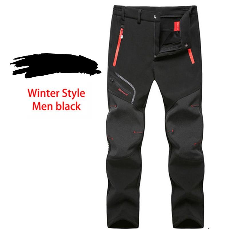 LUTU Winter Fleece pantalones de senderismo hombres Otoño Softshell - Ropa deportiva y accesorios - foto 3