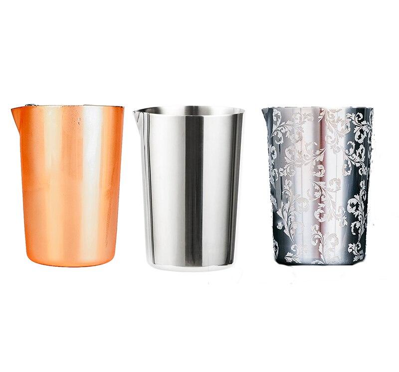 Frete Grátis Agitação de Aço Inoxidável Lata De Mistura De 500 ml de Vidro Preferido por Profissionais e Amadores