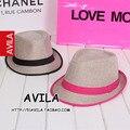 Конфеты неоновые цвета трикотажные fedoras вс-затенение джаз шляпа моды весной и летом пляж крышка соломенная шляпа