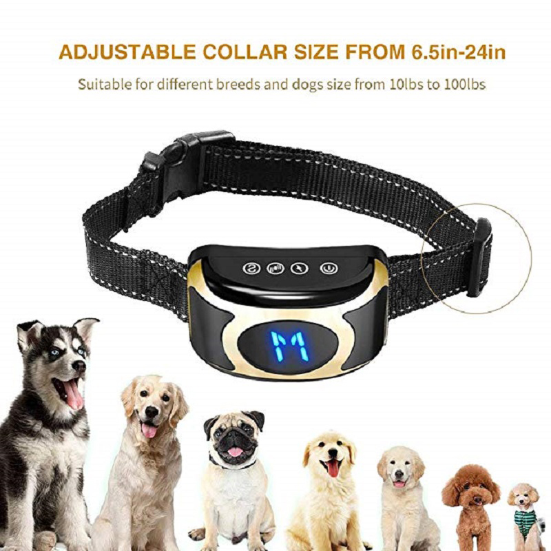 Useful Anti-Bark Dog Collar Adjustable Strap Advanced Dog Training Device