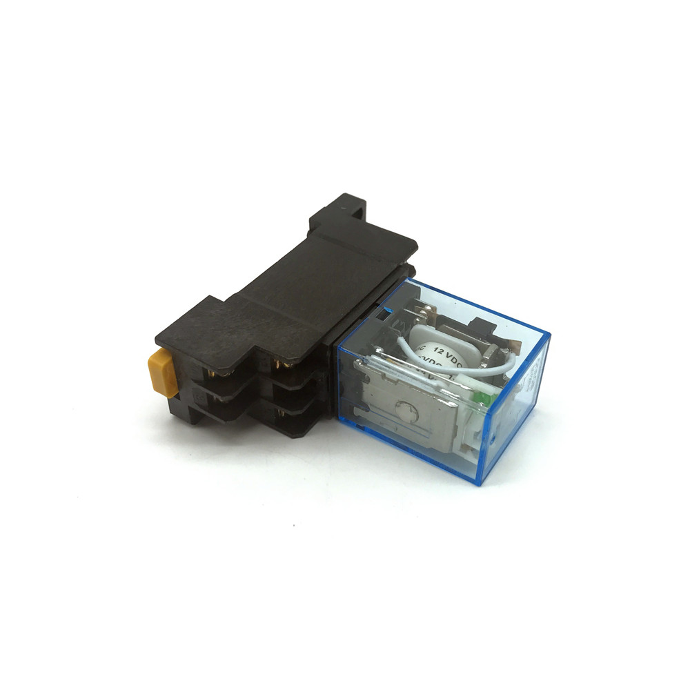 US $4.6 |12V DC Coil Power Relay MY2NJ HH52P L 8PIN 5A With PYF08A Hh P Power Relay Wiring on