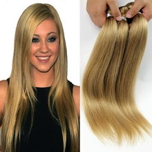 3PCS 7A Honey Blonde Brazilian Hair Weave Virgin Blonde Straight Hair Extensions 10-26″ Blonde Human Hair Weft Tissage GS301