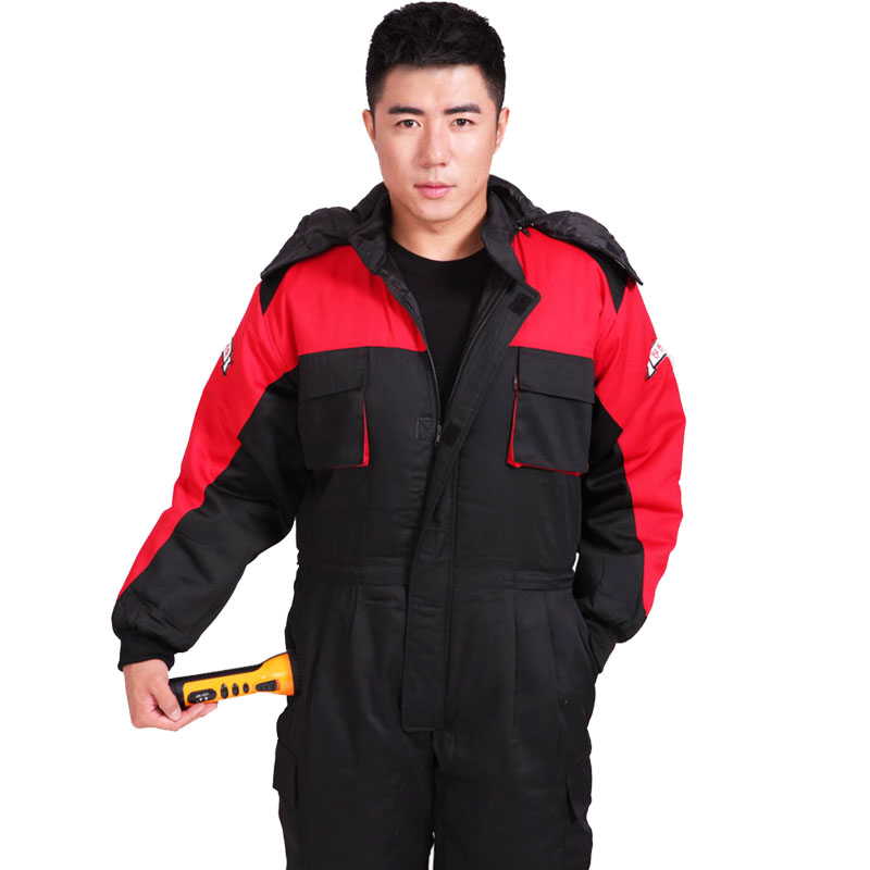 Winter working clothing outdoors thermal protection uniforms mens cotton wadded padded safety clothing thick warm work wear