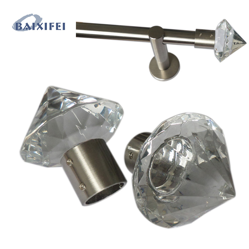 D20mm Curtain Rod Decorative Head Facette Spitze , Curtain Accessories Finials for Window Decoration d20mm curtain rod decorative head facette spitze curtain accessories finials for window decoration