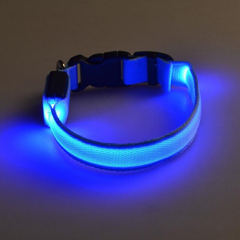 Collar de Perro luminoso del Año Nuevo Pet Glow LED Perros Mascotas Gato Nylon i