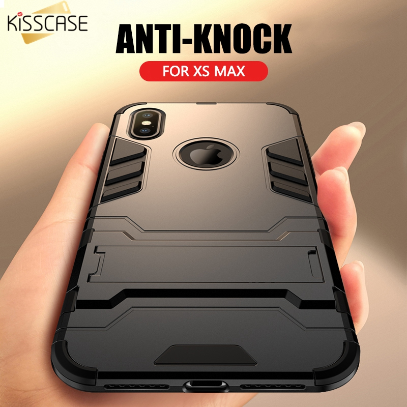KISSCASE Armor Case For iPhone XS Max Kickstand Phone Case For iPhone