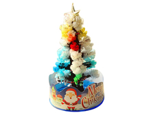 iWish 2019 2PCS 10x6cm DIY Visual Multicolor Magical Grow Christmas Trees Magic Growing Paper Tree Japan Kids Toys For Children