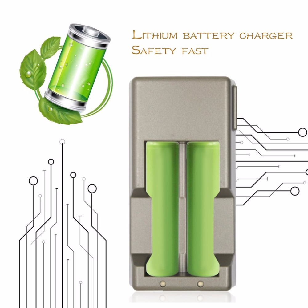 Battery Charger for 18650 17650 17335 16500 14500 Lithium Battery Smart Rechargeable 500mA Current Power Bank Function