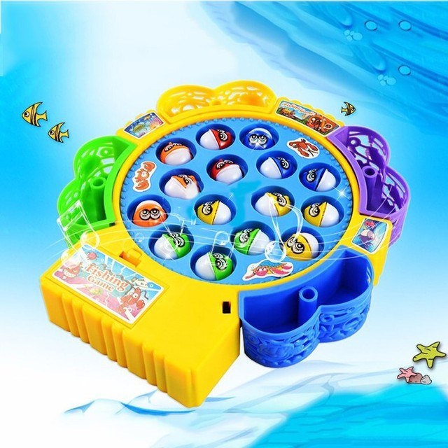 Electronic Toy Magnetic Fishing Toy Fishing Game Muscial Plastic Fish Board Games Parent-Child Interactive Educational Toy