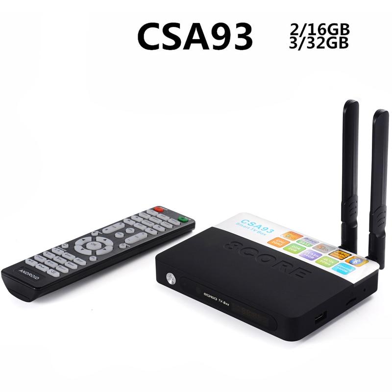 ФОТО Amlogic S912 CSA93 Android 6.0 TV Box 2/16G,3/32G Dual WIFI BT4.0 H.265 4K IPTV Box