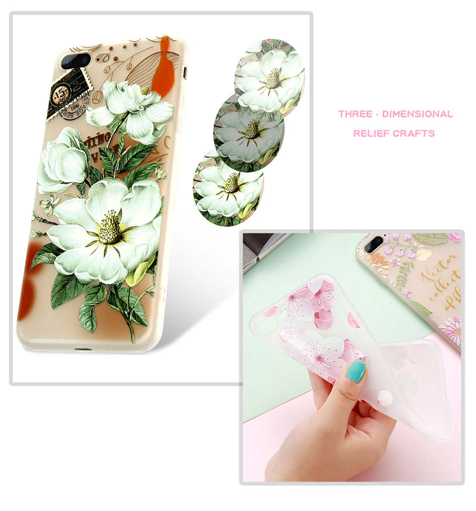 flower patterned case for iPhone 6 6s 7 Plus (6)