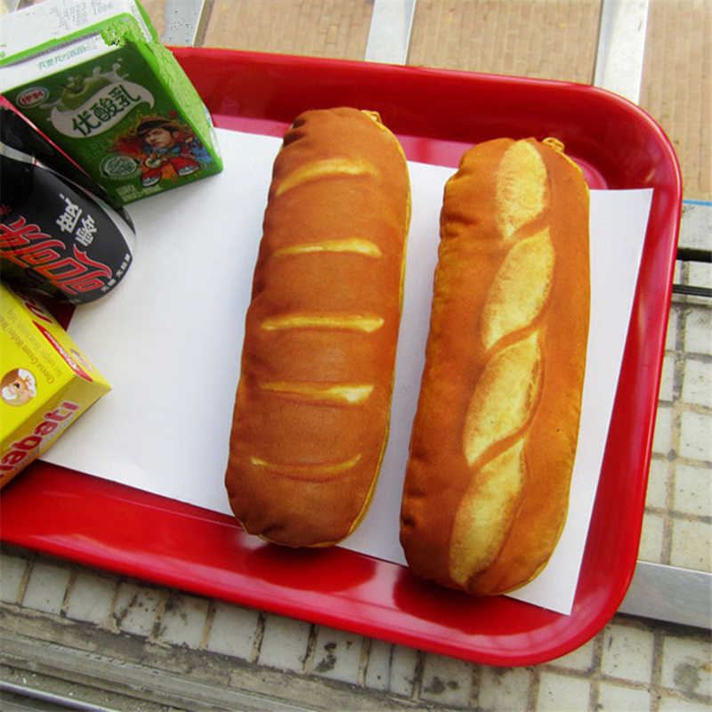 Kawaii Creative Bread Pencil Case For School Supplies Stationery Girls Boys Cute Pencil Bag High Quality Student Pencil Box Gift