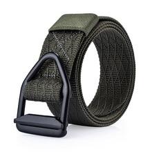 Фотография VADO Designer belts Bullet style Buckle Canvas Belts unisex Waist Nylon Men Belts Military Tactics belts outdoor
