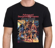 Online T Shirts Design Short Sleeve Top Advanced Dungeons And Dragon Shadow Of Sorcerer O-Neck Mens Shirt