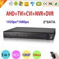 Hi3531A 16CH SATA Dois Coaxial Híbrido 1080 P Full HD de Vigilância de Vídeo de 2MP gravador de 5 em 1 NVR CVI TVI AHD CCTV DVR Frete Grátis