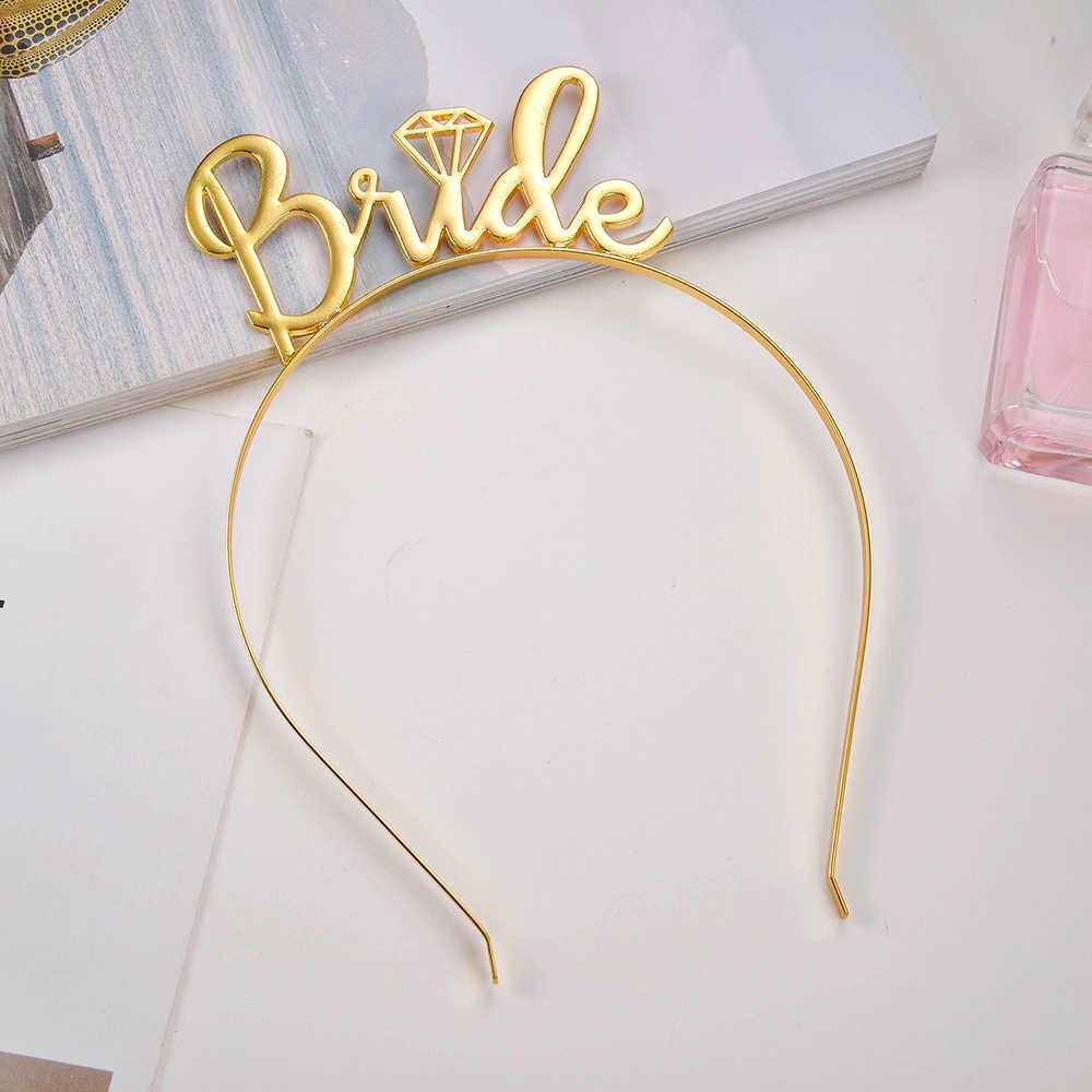 Kafa bandı Gelin Olmak tiara taç Gelin Bekarlığa Veda Kadın Parti Düğün Gelin Aksesuarları Saç Ornamen saç aksesuarları 2019