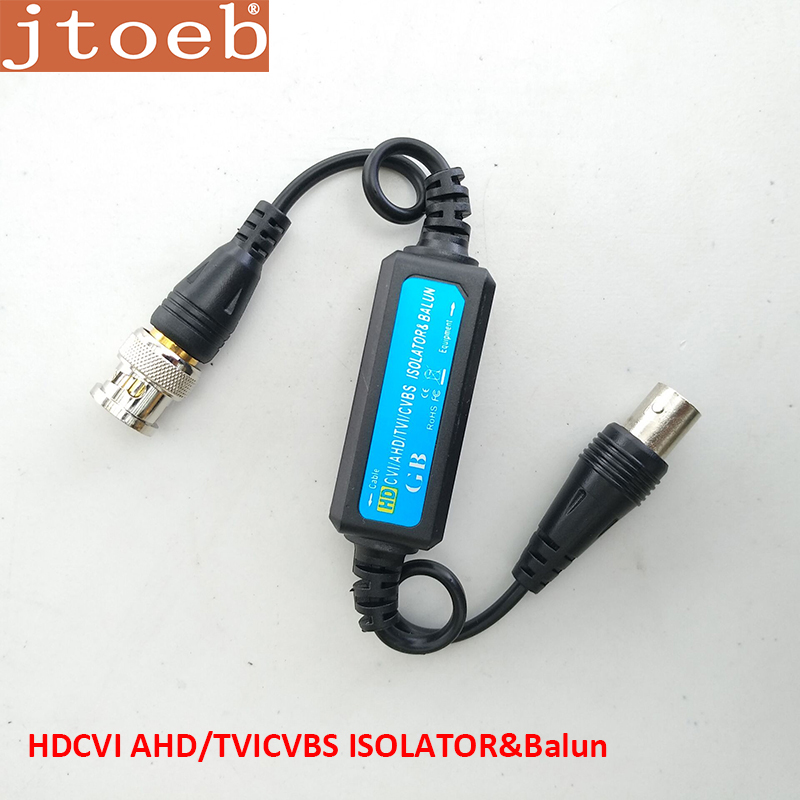 GB106A BNC Coaxial Cable Video Balun Adapter Connectors HD AHD CVI TVI Ground Loop Isolator  Surge Protection Wave Filter Design