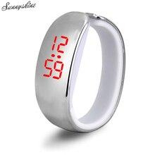 Women Ladies Sport Watches LED Plating Waterproof Clock Bracelet Digital Wrist Watch wholesale