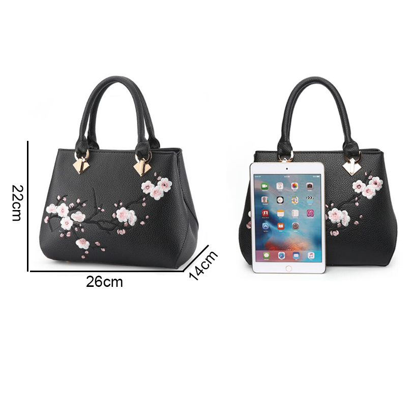 ab4c2dc1c9a5 TIZZYDE Flowers Embroidery Women Messenger Bag Cherry Blossoms Fashion  Simple Popular Handbags Lady Female Brand Designer ZHP26-in Shoulder Bags  from ...