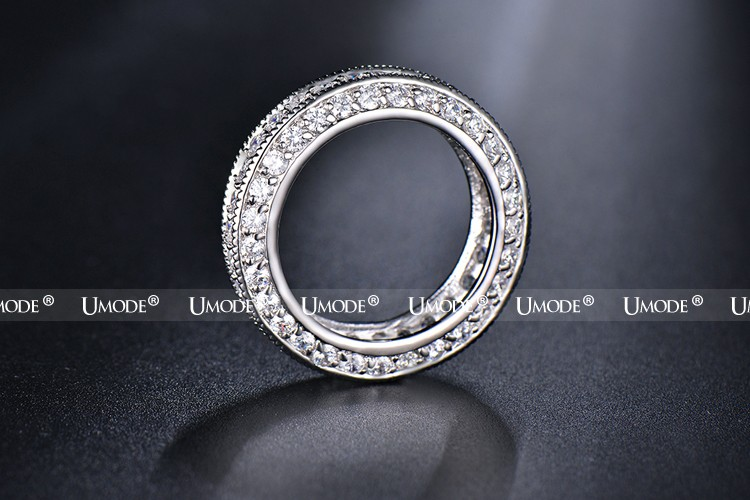 خواتم للنساء مجوهرات الذهب الأبيض 6