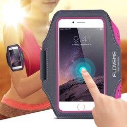 FLOVEME 5.5 pouces étanche Sport bras bande étui pour samsung Galaxy S7 S6 S5 entraînement course Gym couverture pochette téléphone accessoires