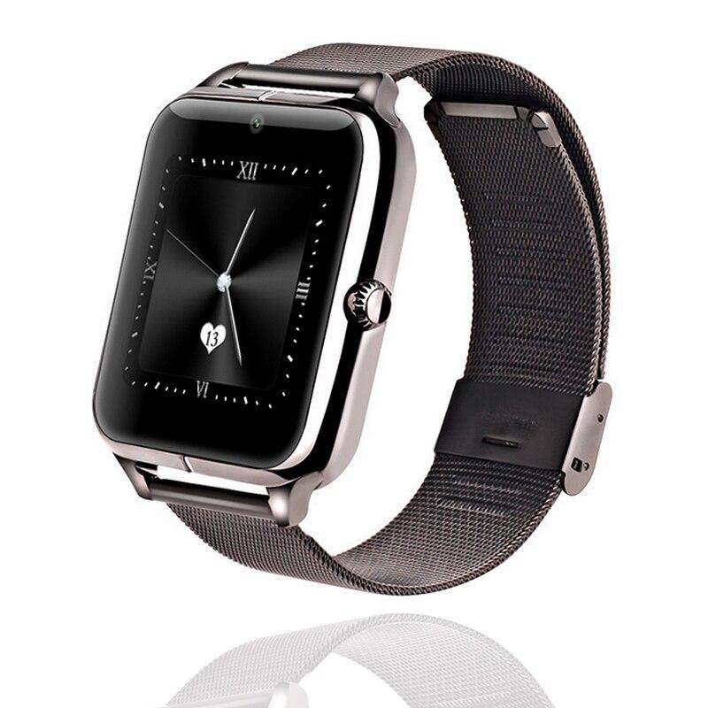 Z50 Business métal miroir écran tactile montres intelligentes Bluetooth synchronisation appel santé Fitness Tracker caméra musique positionnement montres