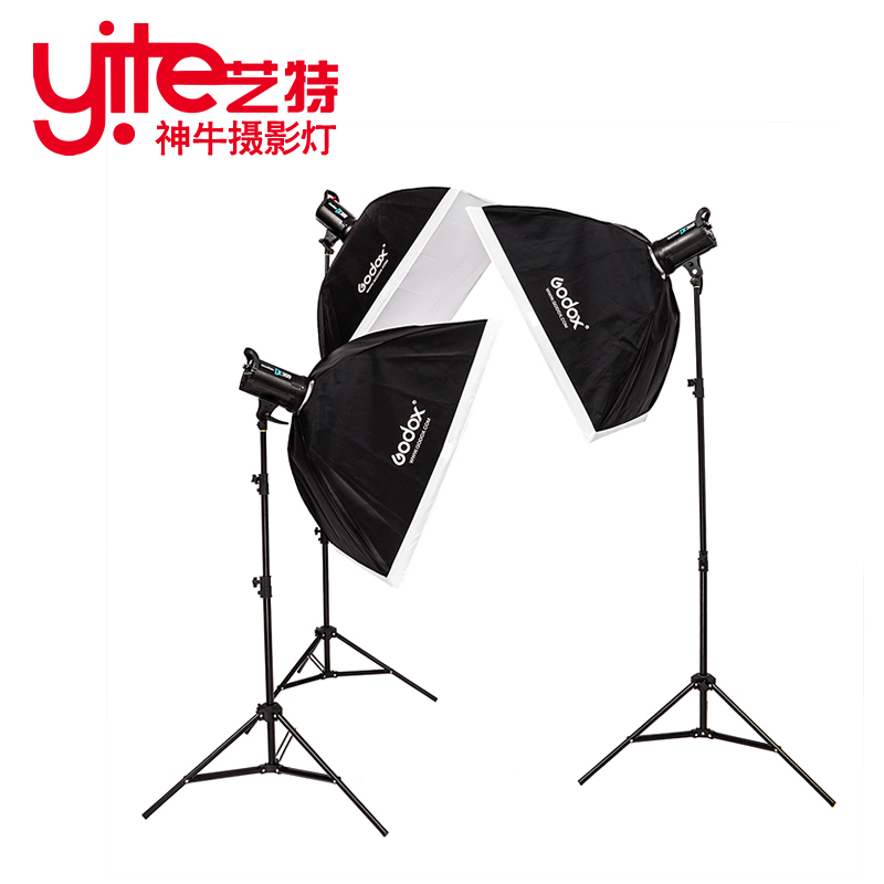 godox de300w studio flash photography light set softbox photographic equipment soft light